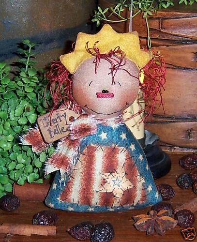 Patti/'s Ratties Primitive Raggedy Ann Liberty Ornie Doll Paper Pattern #468