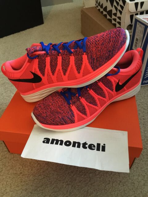 huge selection of 2ca3f 63bd6 BRAND NEW NIKE FLYKNIT LUNAR2 - HYPERPUNCH - SIZE 12