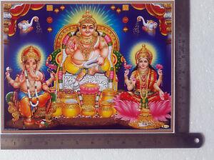 8 5x11 Inch Poster Lakshmi Kuber Ganesha | eBay