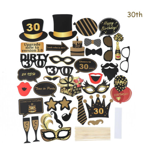 Anniversaire 21st 30//40//50th Photo Booth Props Mariage Oscars Enterrement Vie Jeune Fille Cirque Clown