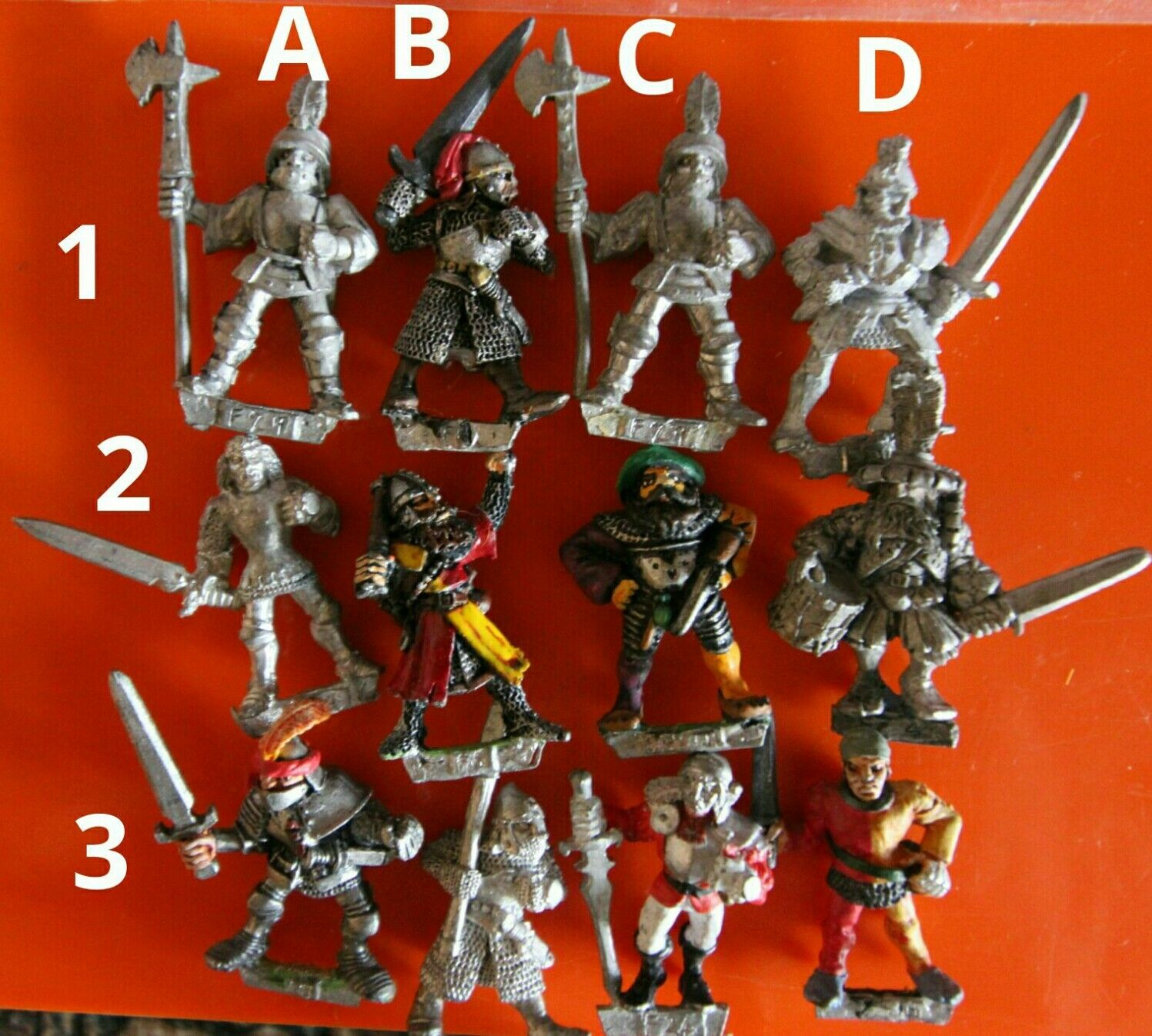 12x MM60 fighter F30 warrior empire Marauder gw miniatures oldhammer fighters