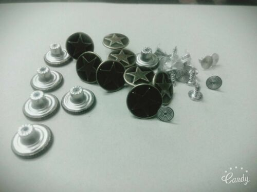 50Set Metal One Star Pattern Jeans Denim Buttons Tack Hammer On Bronze Tone 17mm