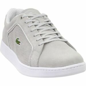 5d9ca31c4bd0 Lacoste Men s Carnaby EVO 318 Light Grey White Size 9 Sneaker ...