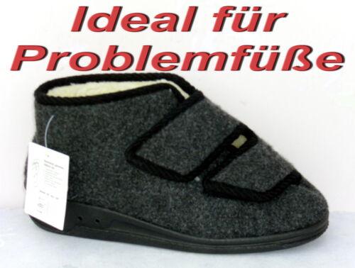 """Ideal für Problemfüße /""""Panto Fino/"""" Herren Hausschuhe Kletvers Gr.36-50 +NEU++"""
