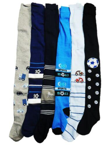 6 garçons Collants Collant TAILLE Football Taille 92 98 104 134 140 146 152