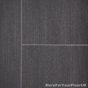 3.8mm Thick Vinyl Flooring Subtle Striped Tile Effect Lino Kitchen ...