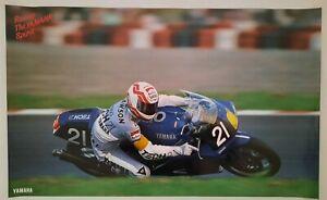 Vintage Original Poster 1991 Eddie Lawson Yamaha Tech21 YZF750 Suzuka