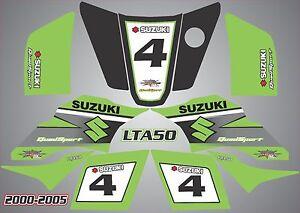 Details Zu Suzuki Lta 50 Quad Grafik Aufkleber Name Nummer Laminat Vinyl Lta50 G