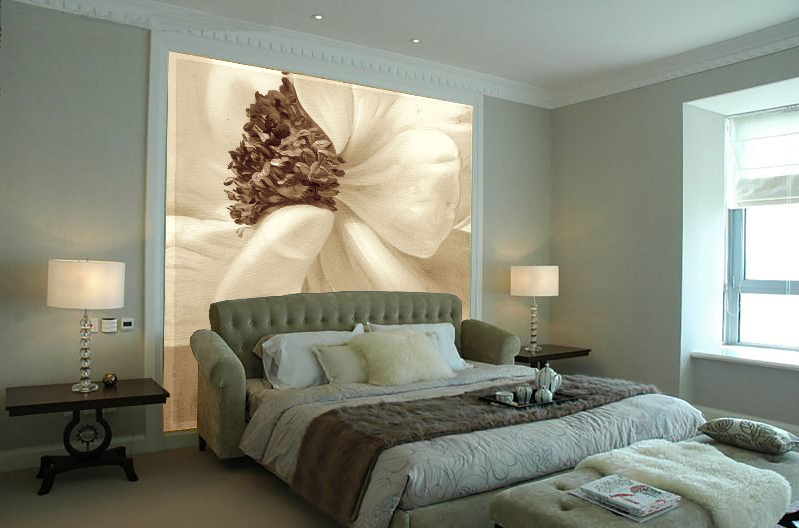 3D Weiß Petals Bloom 69 Wall Paper Wall Print Decal Wall AJ WALLPAPER CA