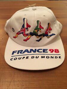 9fea740e198 Vintage France World Cup Soccer Snapback Hat NWT 1998 Coupe Du Monde ...