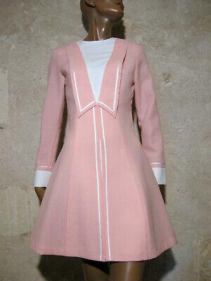 Inventivo Chic Vintage Robe 1960 True Vtg Dress 60s Mod Twiggy Kleid 60er Vestido ( 36/38
