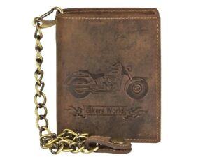 Portafogli-catena-moto-custom-chopper-vera-pelle-nabuk-biker-chain-wallet