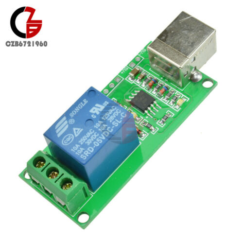 5V Relay 1 Channel USB Programmable Computer Control For Smart Home