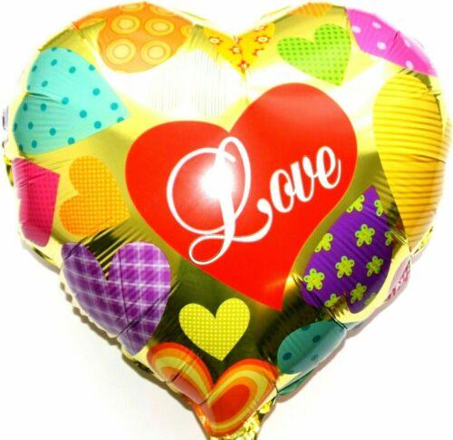 Helium Folienballon Herz Hochzeit Deko Valentinstag Muttertag Geschenk