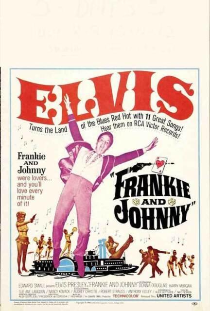 FRANKIE AND JOHNNY Movie POSTER 27x40 B Elvis Presley Donna Douglas Harry Morgan