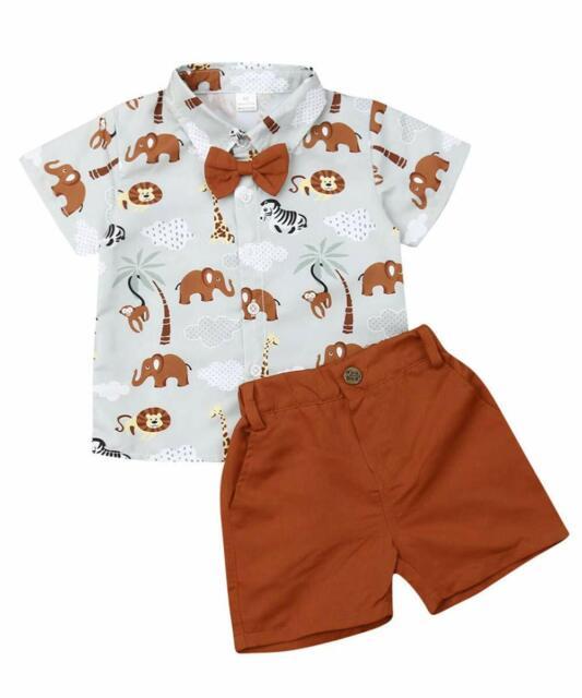 Camisas Pantalones Conjuntos Ropa de Bebe Bebe Niño 1-6 Años Conjunto Ropa Short