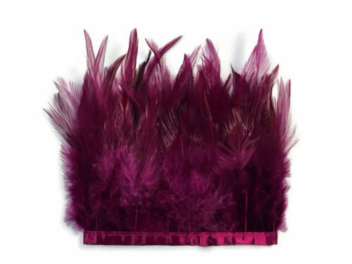 1 Yard Magenta Rooster Neck Hackle Saddle Feather Wholesale Trim Craft Supply