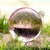 Pink Asian Natural Quartz Magic Crystal Glass Healing Ball Sphere +Stand 80mm