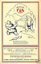Fön Sanitas Berlin Reklame 1928 Eisbär Jäger Trapper Fell Hitze Polar Arktis Ad