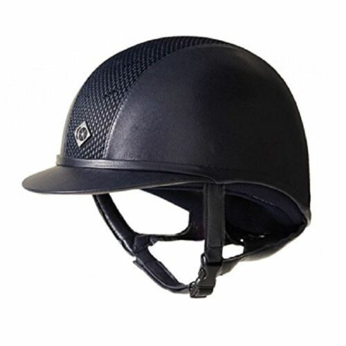 Charles Owen Ayr8 Plus Leather Look Riding Hat Round Fit