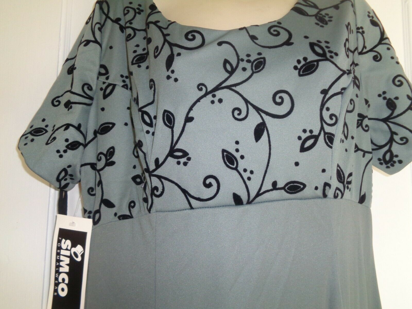 NWT Women's Sz 20 Flocked Long Mother of the Bride Dress by Simco Formalwear