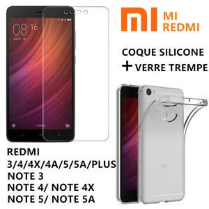 Film-Protection-ecran-Verre-Trempe-Xiaomi-REDMI-NOTE-5-5a-4x-4-Coque-Housse