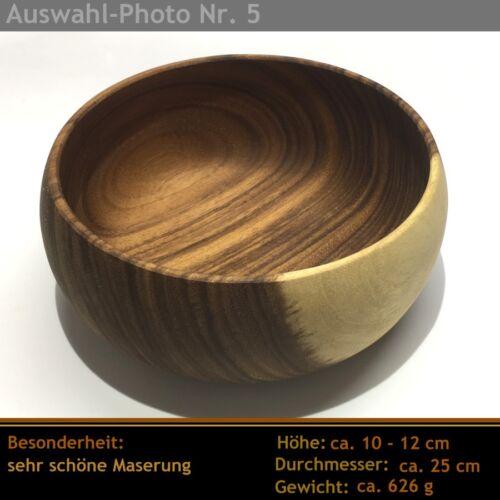 Belle holzschüssel//Salade de Fruits//SALADIER BOIS D/'ACACIA moyen âge 25 cm