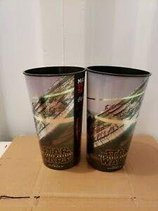 New-Lot-Of-2-Movie-Theater-Star-Wars-The-Force-Awakens-Cups-Tumblers-2015