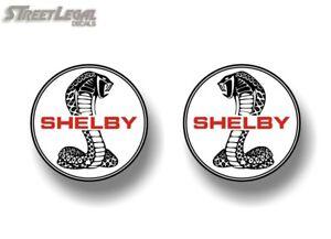 2-Shelby-3-5-034-Round-Vinyl-Decals-Cobra-R-II-2003-GT-350-500-66-Mustang-Stickers