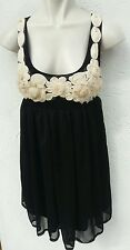 ASOS Ladies Size 10 Prom Dress Black Cream Floral Lined Prom Ball Party Wear
