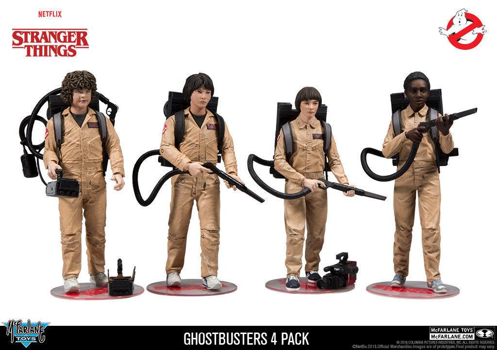 Mcfarlane Toys Stranger Things Ghostbusters 4 Stück Actionfigur Set Neu
