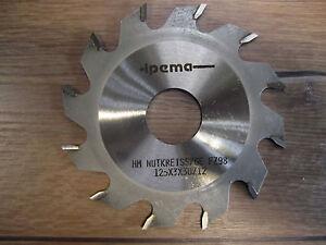 Edessö / Koll Hw Straight Bits / Flat Tooth Miller 125 x 3,0 X 30 MM For 12 F