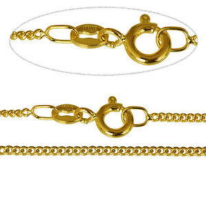 Fine 9Ct Gold Curb Chain 22 inch/1.4mm OCrm3VMZG