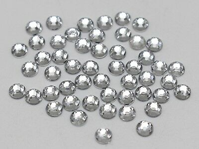 2000 Mixed Color Acrylic Faceted Round Flatback Rhinestone Gem 3mm 12ss Nail Art