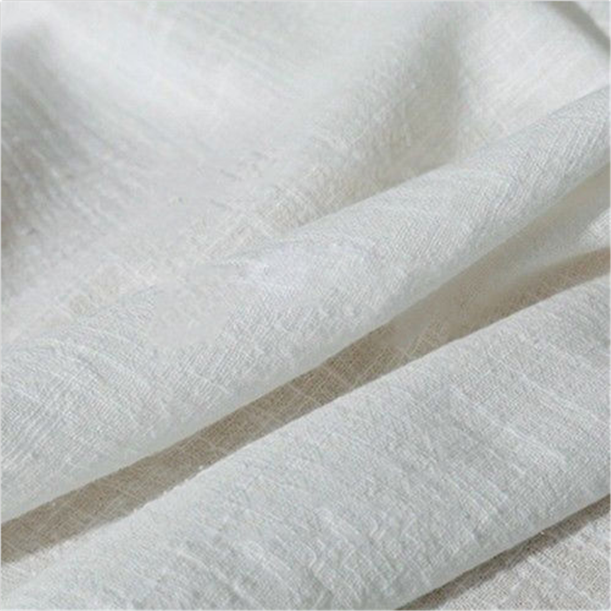 Linen Cotton Fabric,130 x 100 cm Organic Material Pure Natural Flax Cambric Eco DIY Clothes Fabric Soft Cotton Linen Curtain Cloth Handmade