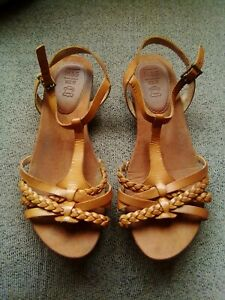 M\u0026S Foot Glove Brown Leather Sandals