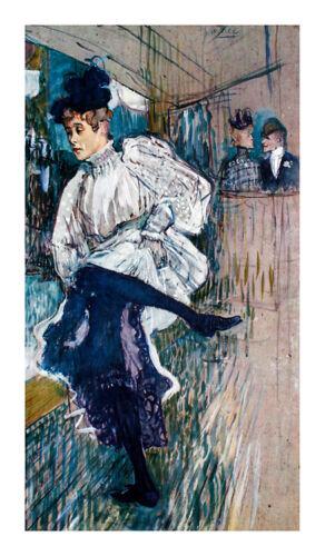 Henri Toulouse-Lautrec Jane Avril Dancing Poster Kunstdruck Bild 66x39cm
