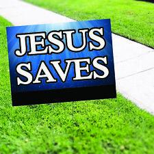 Jesus Saves Yard Sign /& Stake outdoor plastic coroplast window