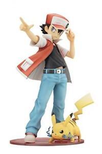 Nouveau Kotobukiya Artfx J Pokemon Rouge Avec Pikachu Pvc Complet Figurine De