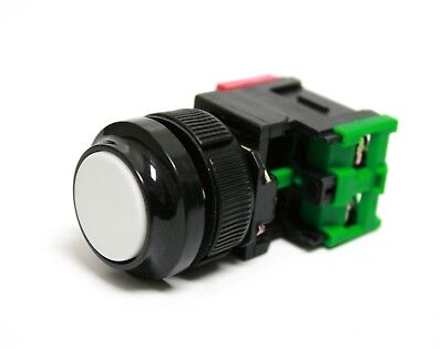 Pushbutton Red Round Replaces SQUARE D D3A1B DA11 22mm 1 No 1 NC Contact Block