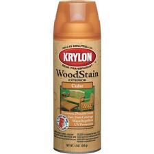 6 Pk Krylon 12 Oz Exterior Semi-Transparent Cedar Wood Stain Spray 3601