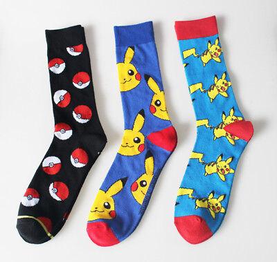 5pk Low-Cut Socks Pokemon Go Meowth Pikachu Ivysaur Charmander Character Ankle