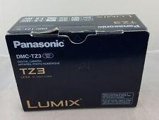 "Panasonic LUMIX DMC-TZ3 7.2 MP Digital Camera - Black 10X 3"" LCD!"