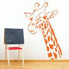 Giraffe head wall art room sticker decal childrens room nursery animal themed