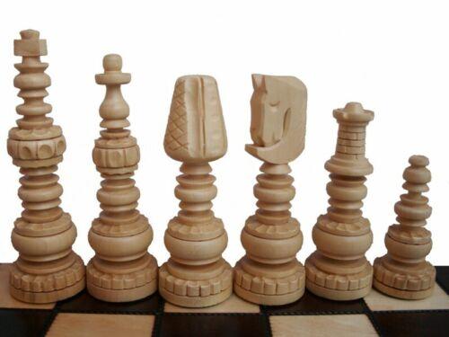 Edles grosses Schach Schachspiel 60 x 60 cm Geschnitzt HANDGESCHNITZT NEU Holz