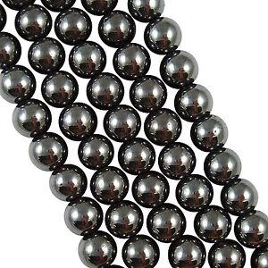 15-100Pcs-Black-Hematite-Gemstone-Round-Loose-Beads-Makings-Craft-DIY-4-6-8-10MM