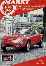 Markt 1/87 1987 Bianchi Dürkopp Diana Matra-Bonnet Djet Karmann Ghia Vespa 914/6