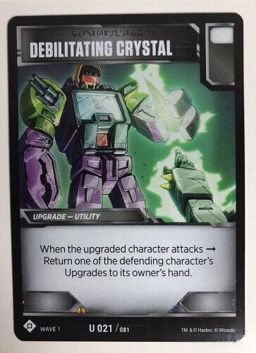 Transformers TCG 3x Debilitating Crystal U 021//081 Uncommon 3x Autobot Starter
