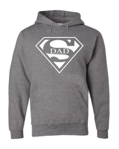 Super Dad Funny Hoodie Father Birthday Gift Dad Husband Super Hero Sweatshirt
