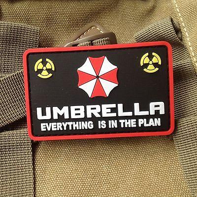 RESIDENT EVIL UMBRELLA CORPORATION PVC ARMY MORALE RUBBER VELCRO SHOULDER PATCH
